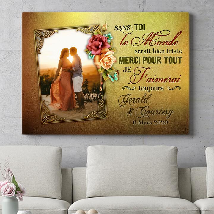 Cadeau personnalisé L'amour pour toujours