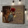 Impression sur toile personnalisée Chuchotements d'amour