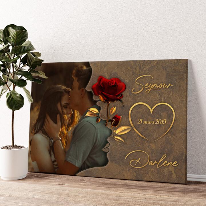 Chuchotements d'amour Murale personnalisée