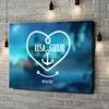 Stampa personalizzata su tela Ancora d'Amore
