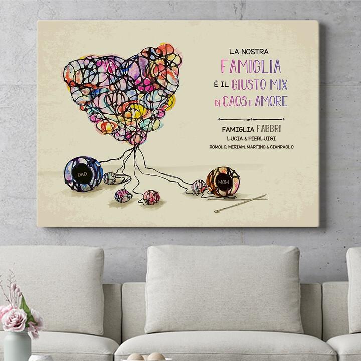 Regalo personalizzato Lana d'amore