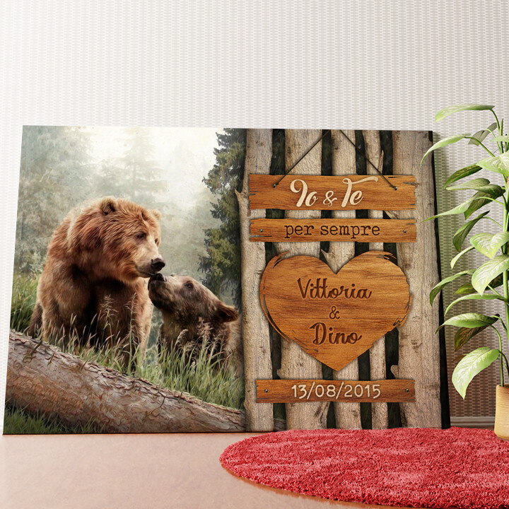 Tela personalizzata Amore di Orso
