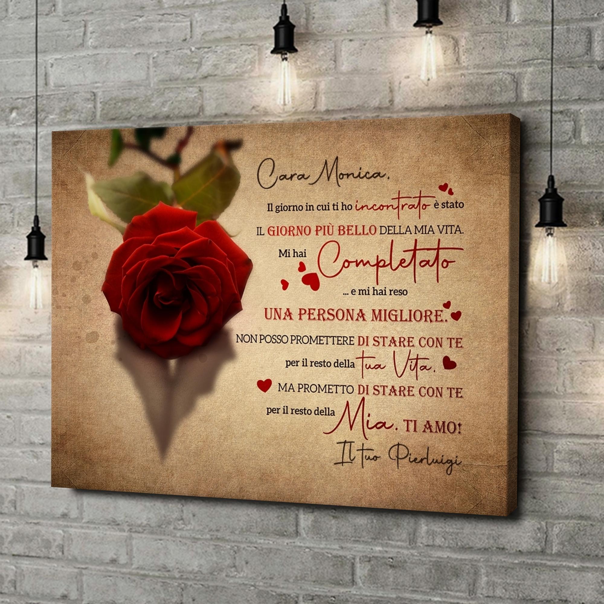 Stampa personalizzata su tela Innamorato di te