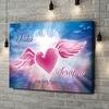 Stampa personalizzata su tela Cuore d'angelo