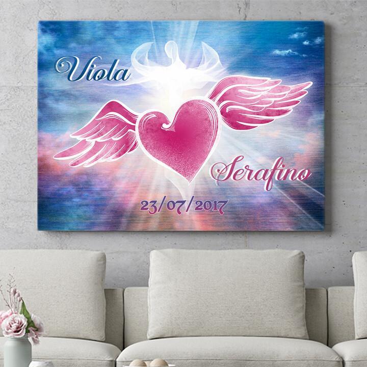 Regalo personalizzato Cuore d'angelo