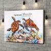 Stampa personalizzata su tela Famiglia di tartarughe