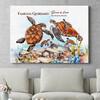 Regalo personalizzato Famiglia di tartarughe