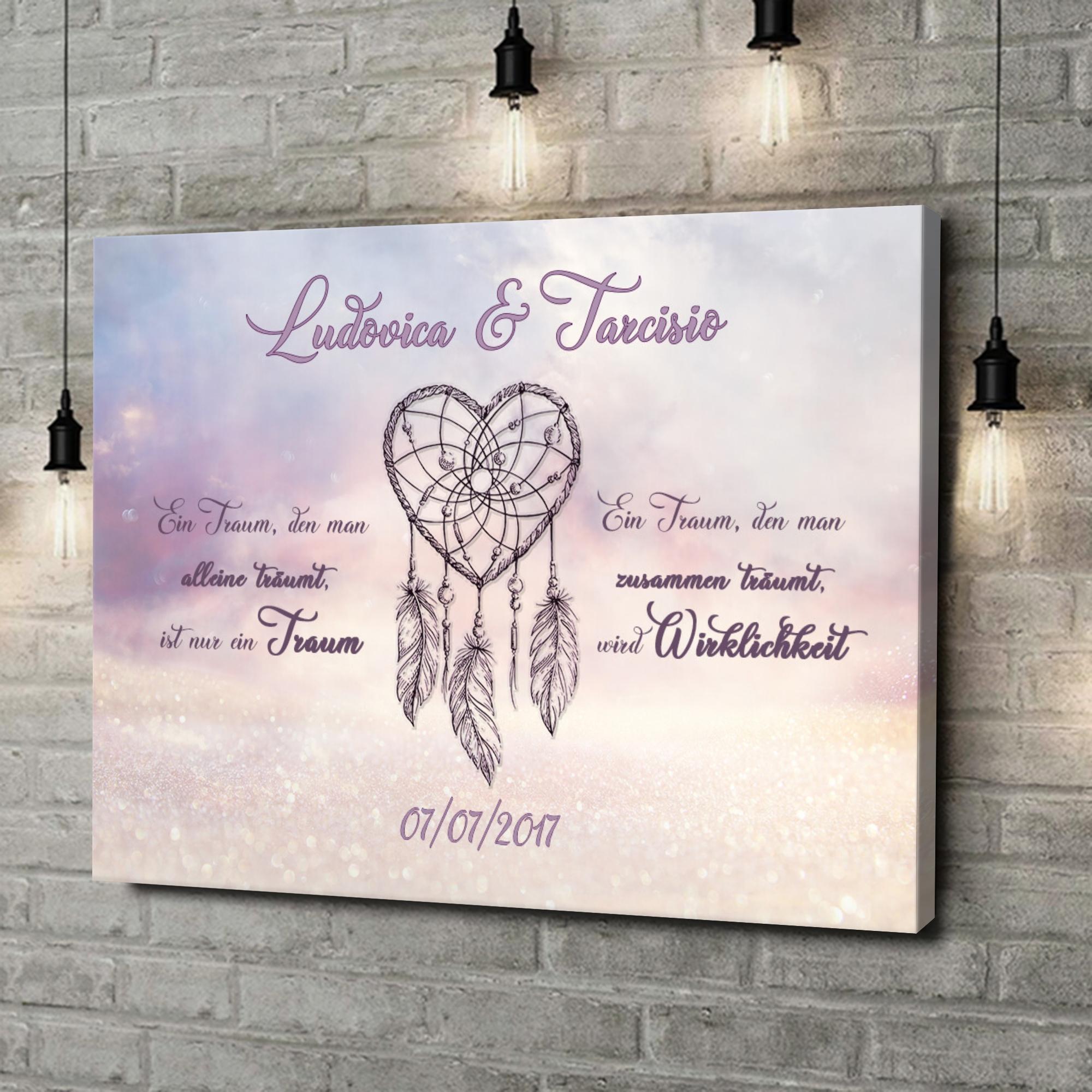 Stampa personalizzata su tela Amore che fa sognare