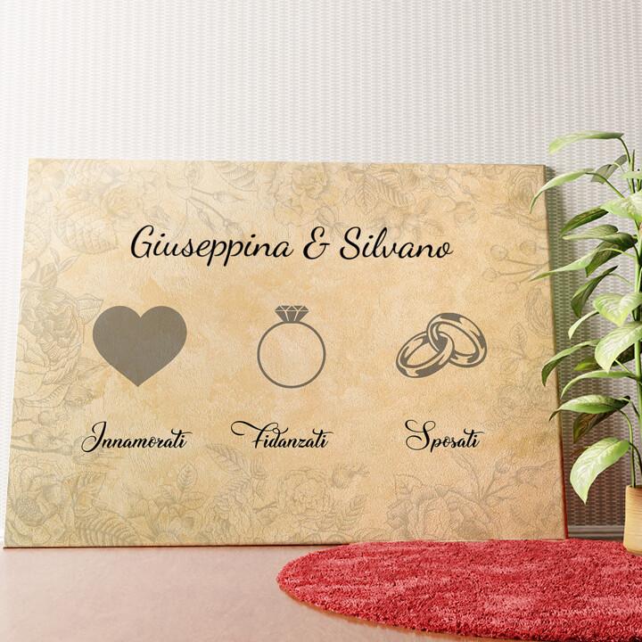 Tela personalizzata Innamorati fidanzati sposati