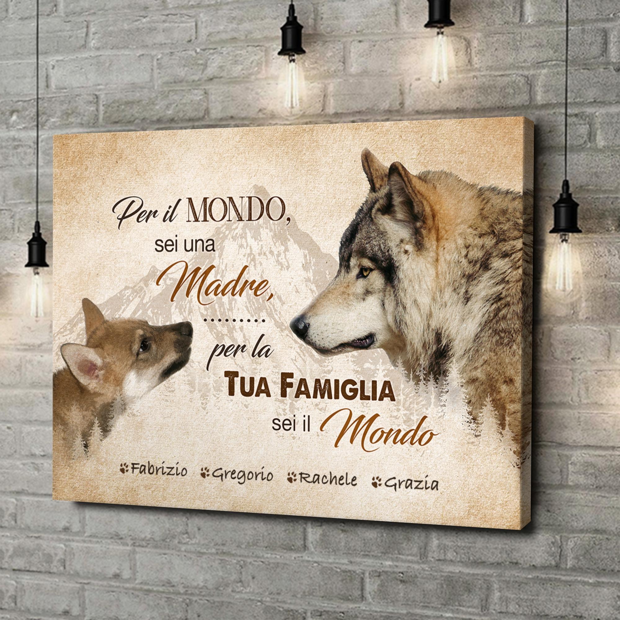 Stampa personalizzata su tela La madre del lupo