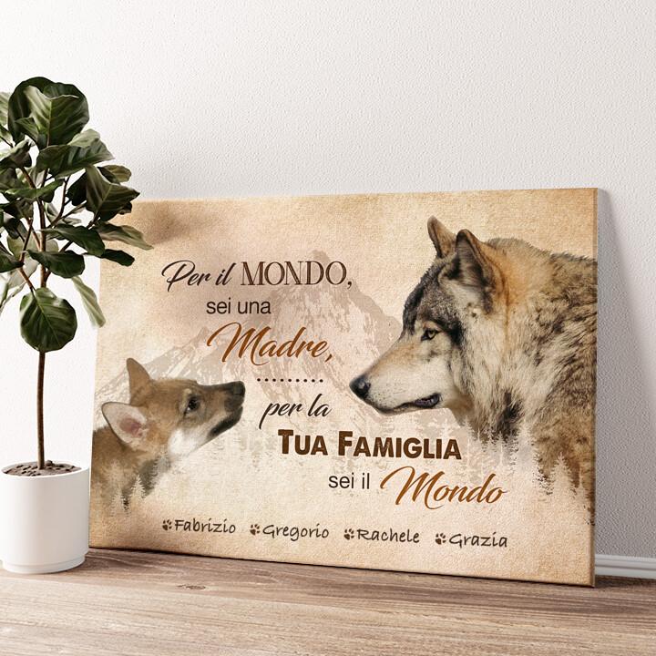 La madre del lupo Tela personalizzata