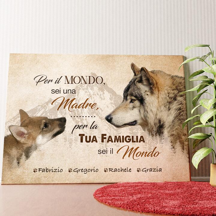Tela personalizzata La madre del lupo