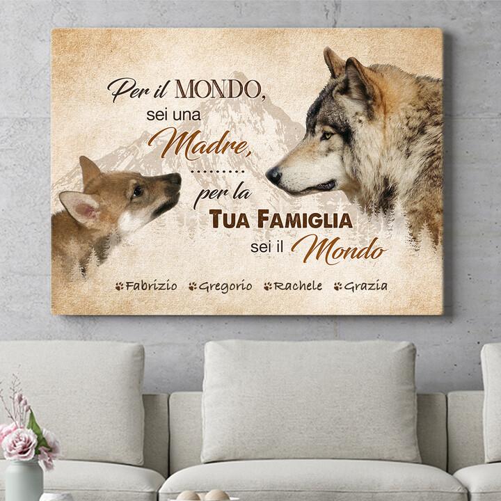 Regalo personalizzato La madre del lupo