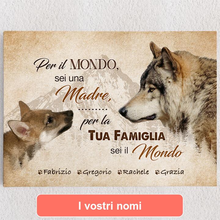 Tele personalizzate La madre del lupo