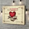 Stampa personalizzata su tela Mani dell'amore