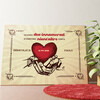Tela personalizzata Mani dell'amore