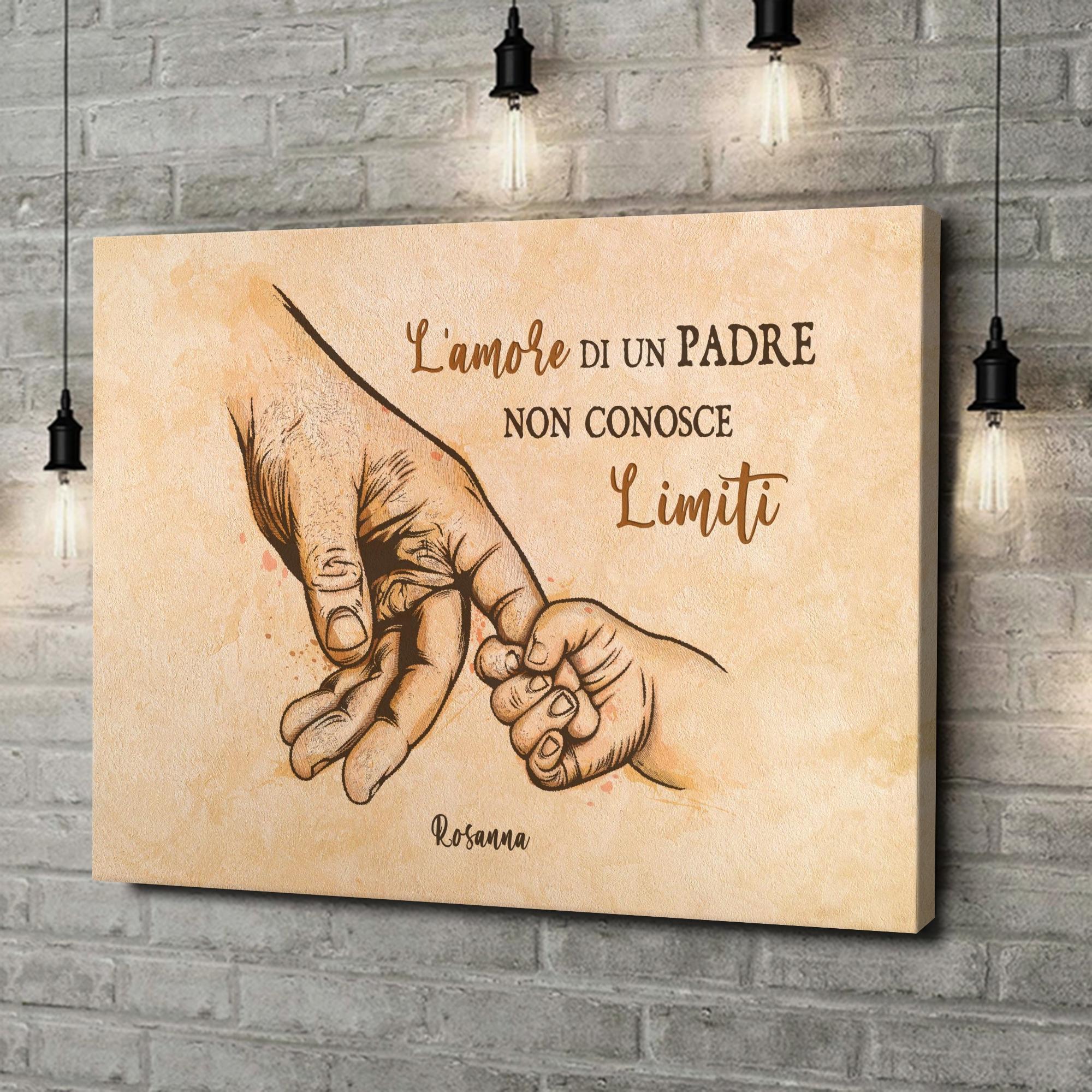 Stampa personalizzata su tela Amore di un padre