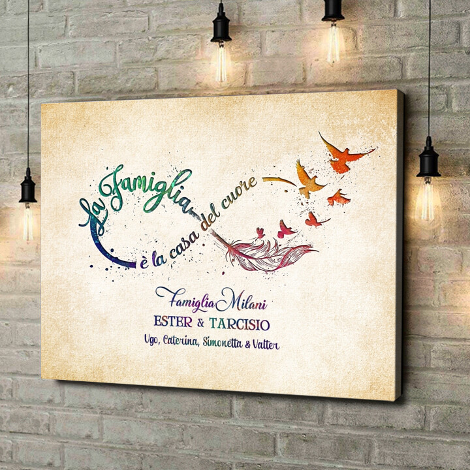 Stampa personalizzata su tela Casa del Cuore