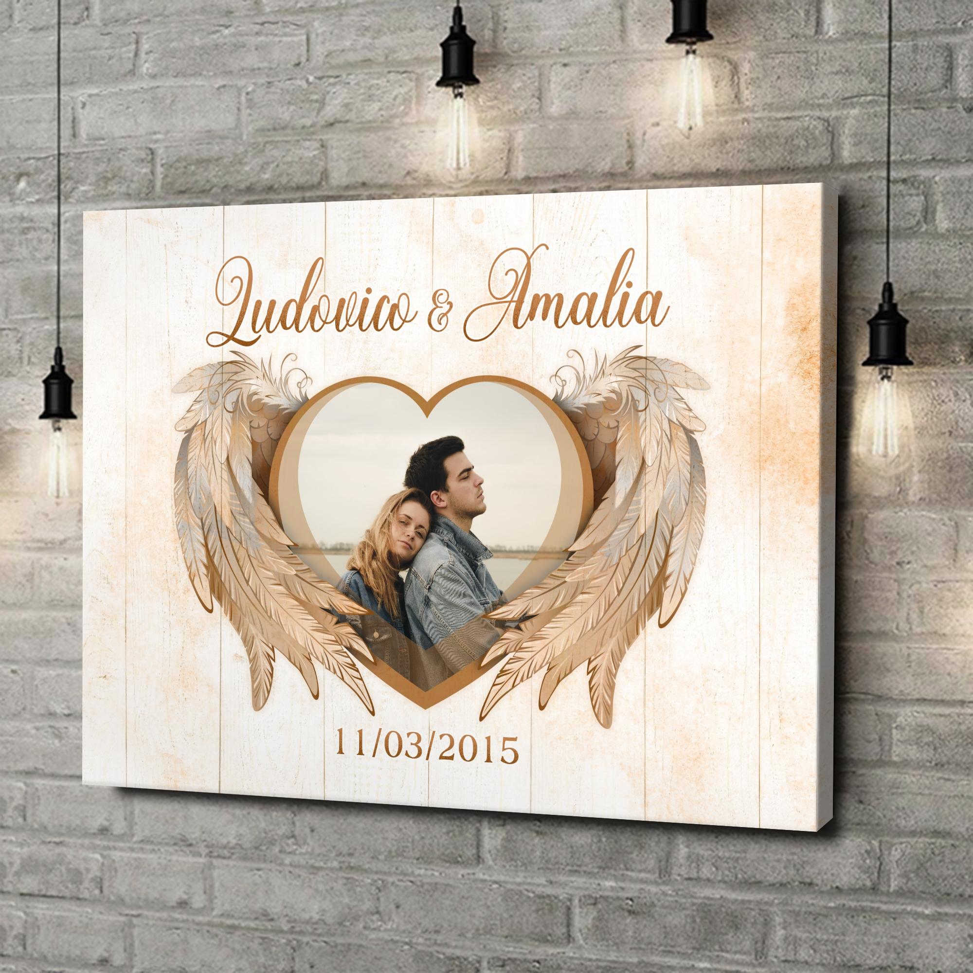 Stampa personalizzata su tela Ali dell'amore