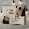 Stampa personalizzata su tela Mamma Panda
