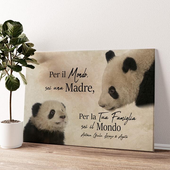Mamma Panda Tela personalizzata