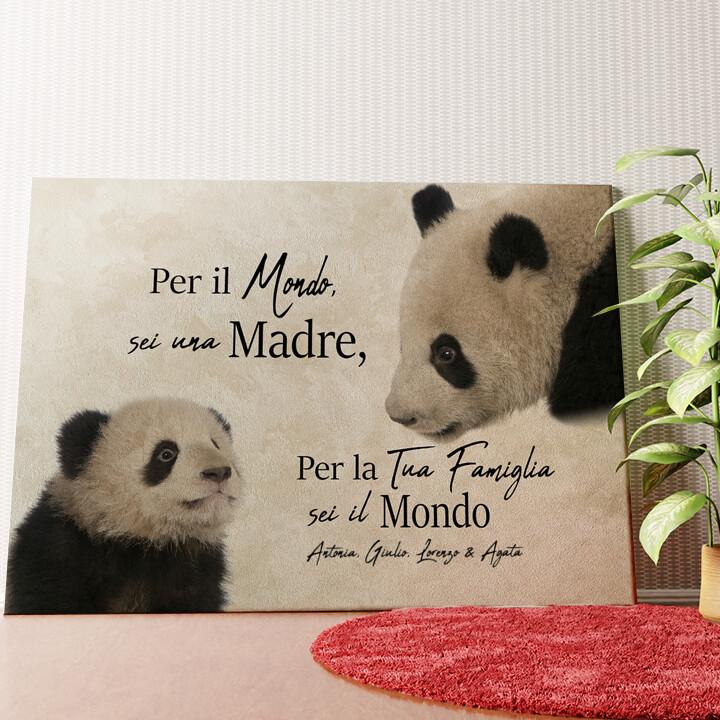 Tela personalizzata Mamma Panda