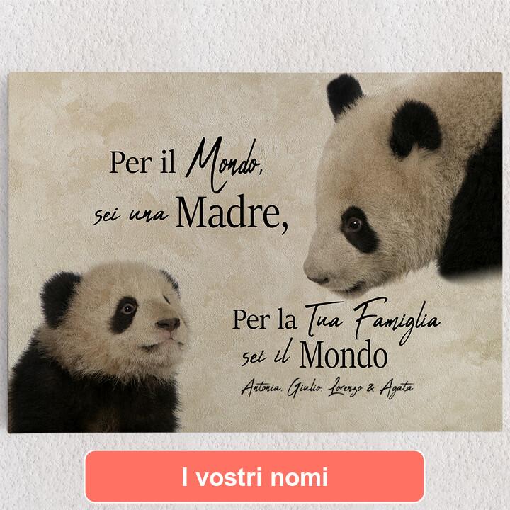 Tele personalizzate Mamma Panda