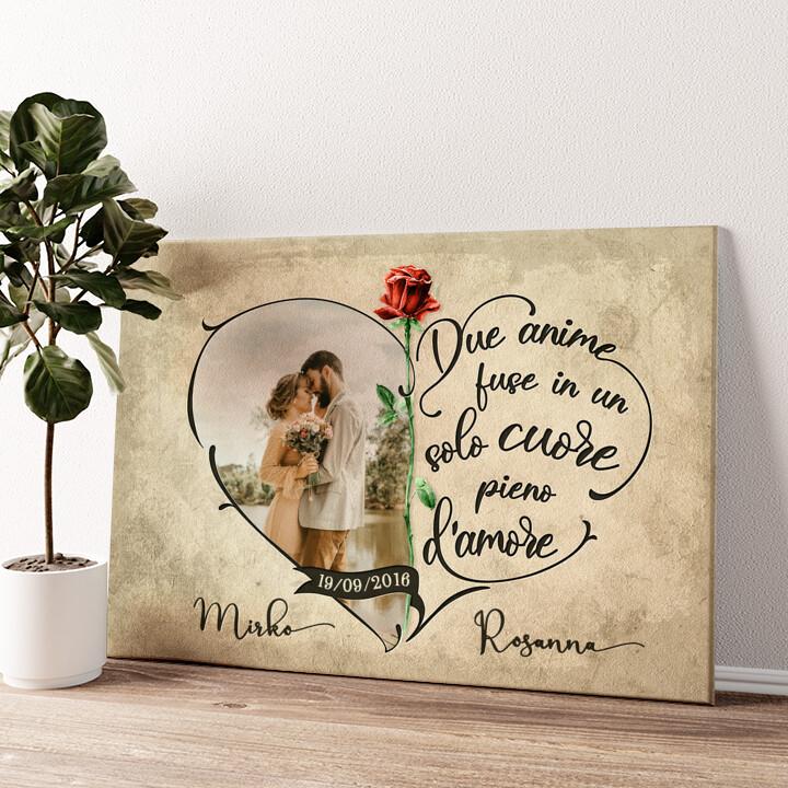 Cuore pieno d'amore Tela personalizzata