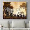 Regalo personalizzato Famiglia di elefanti