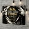 Stampa personalizzata su tela Supereroe