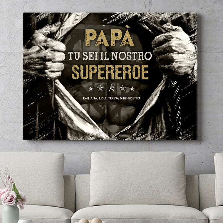 Regalo personalizzato Supereroe
