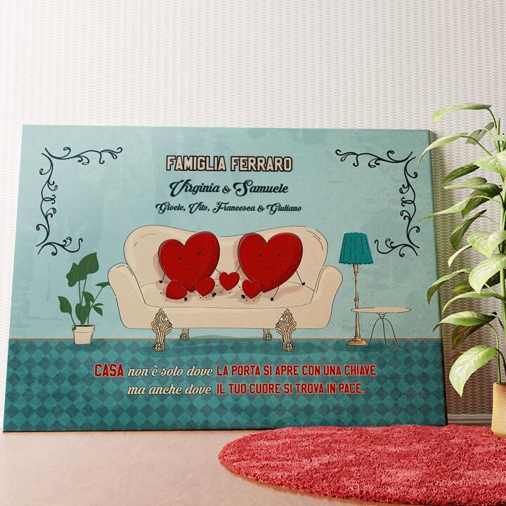 Tela personalizzata Una casa con un cuore