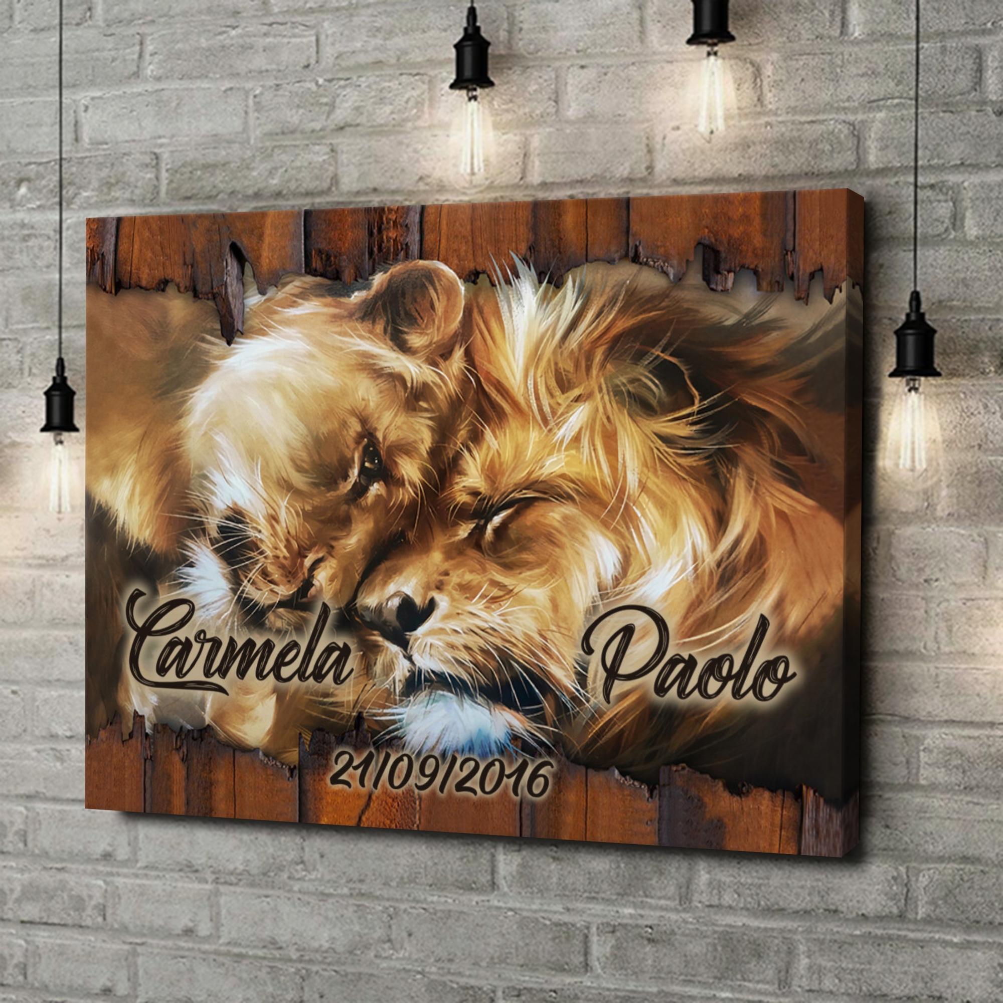 Stampa personalizzata su tela Cuore di Leone