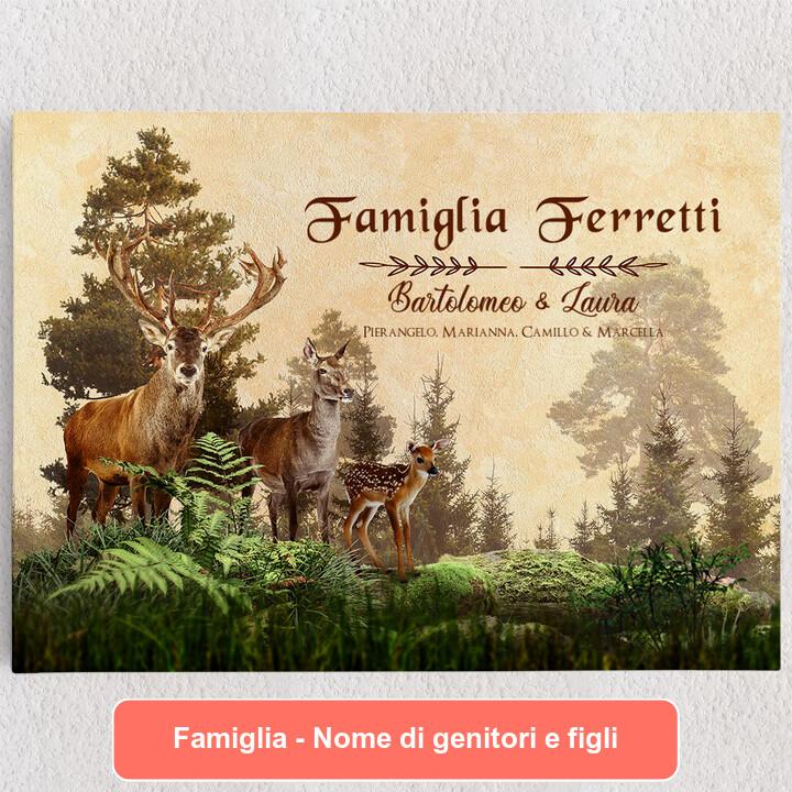 Tele personalizzate Famiglia di cervi