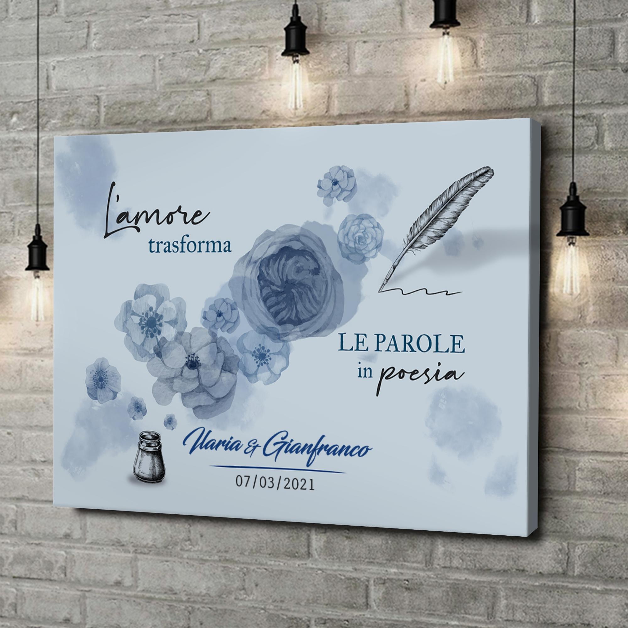 Stampa personalizzata su tela Lettera d'amore