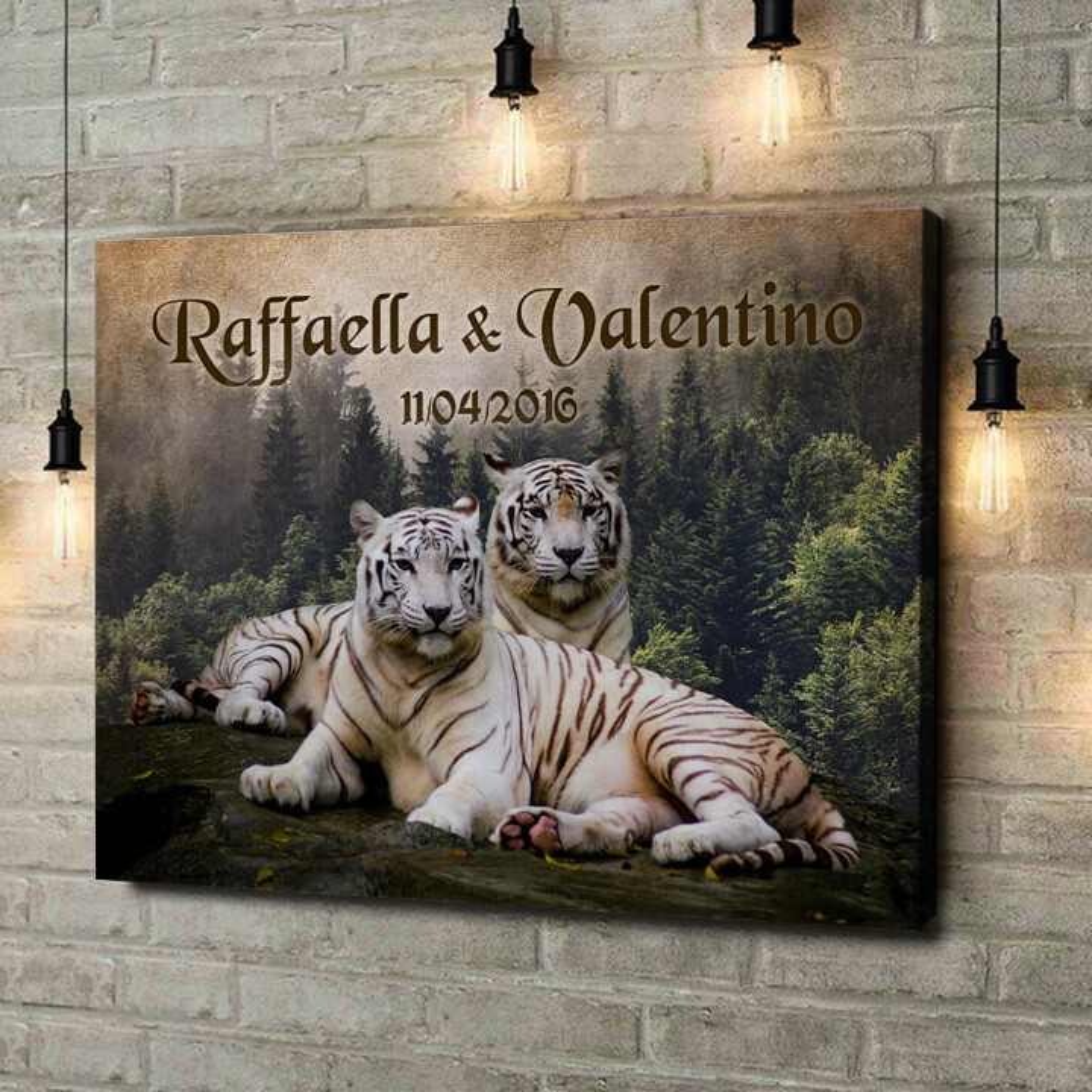 Stampa personalizzata su tela Tigre Bianca
