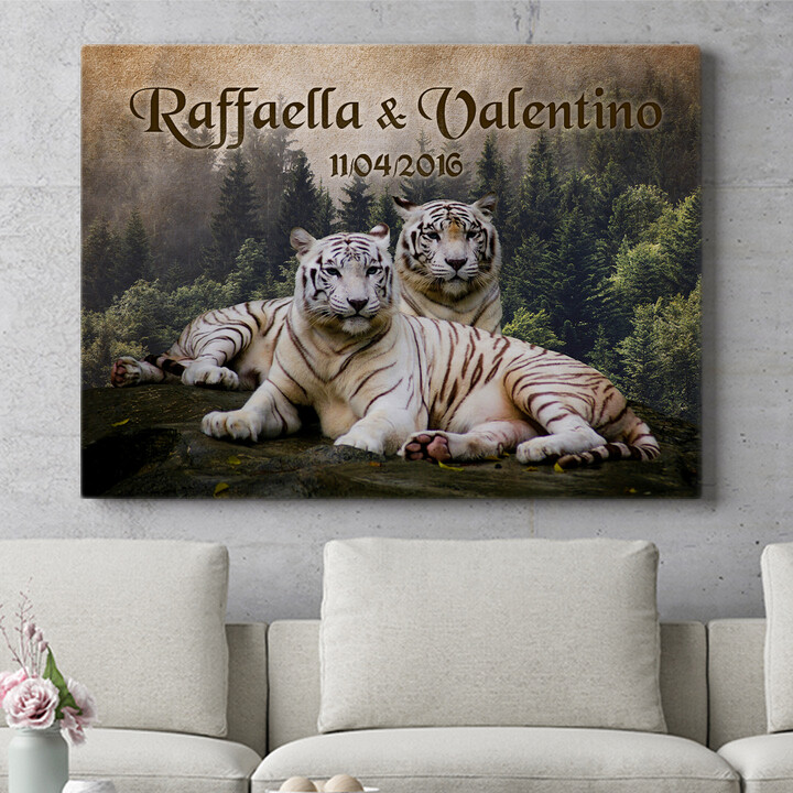 Regalo personalizzato Tigre Bianca