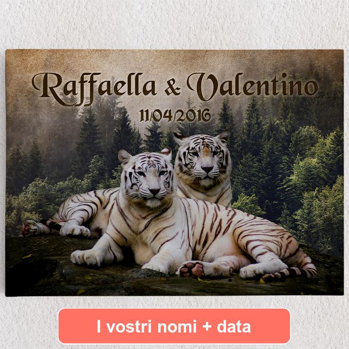 Tele personalizzate Tigre Bianca