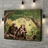 Stampa personalizzata su tela Famiglia di scimmie