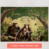 Tele personalizzate Famiglia di scimmie