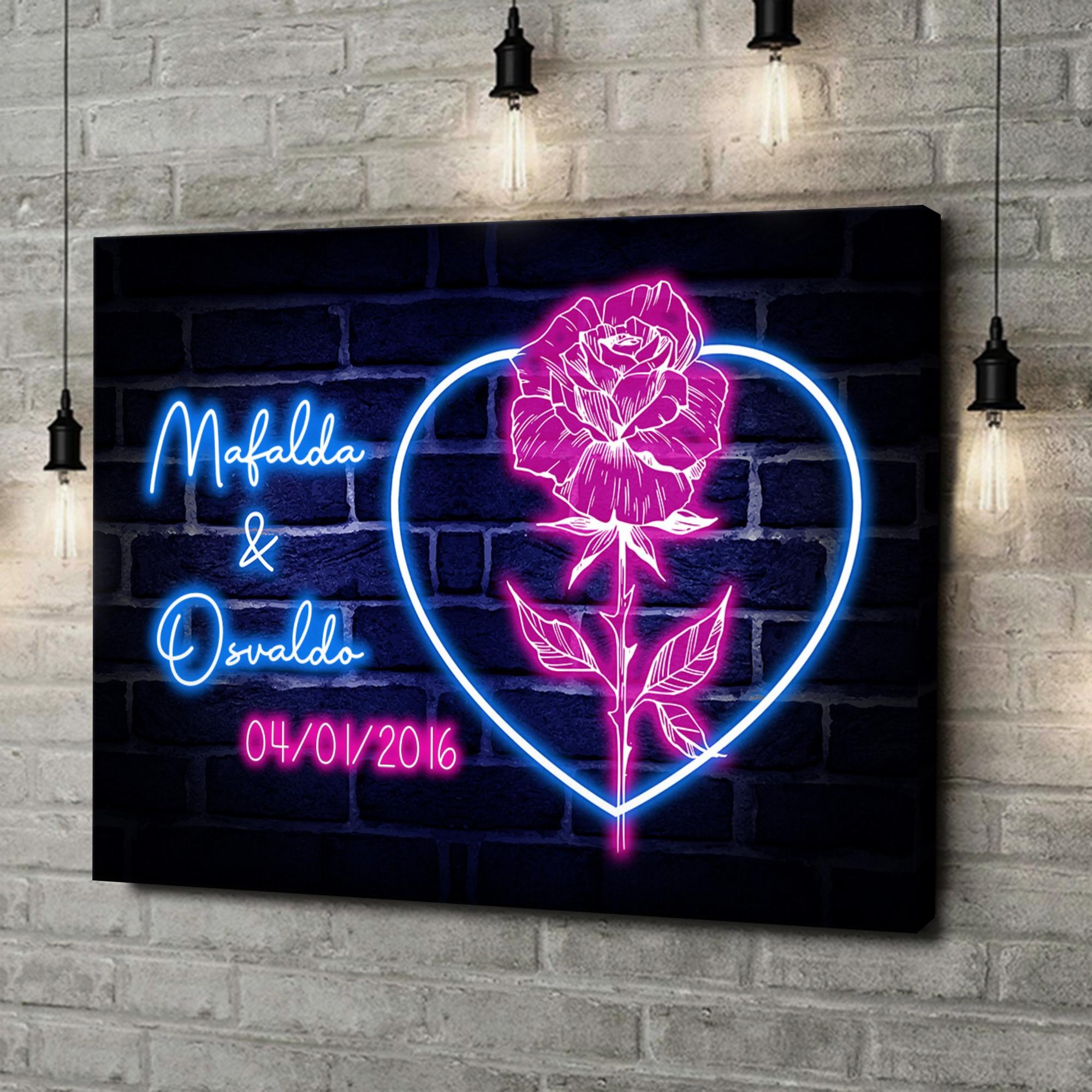 Stampa personalizzata su tela Cuore Rosa