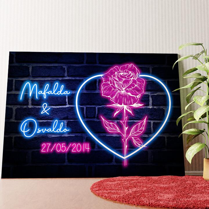 Tela personalizzata Cuore Rosa