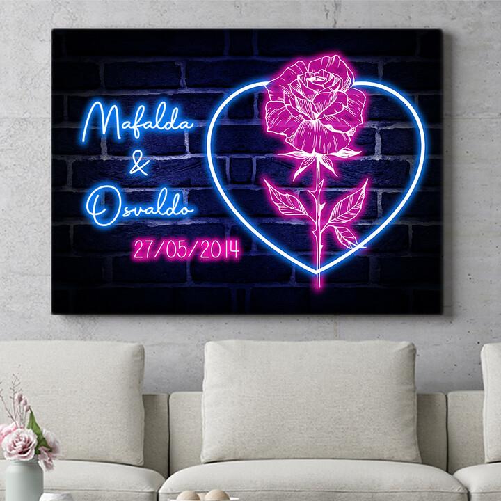 Regalo personalizzato Cuore Rosa