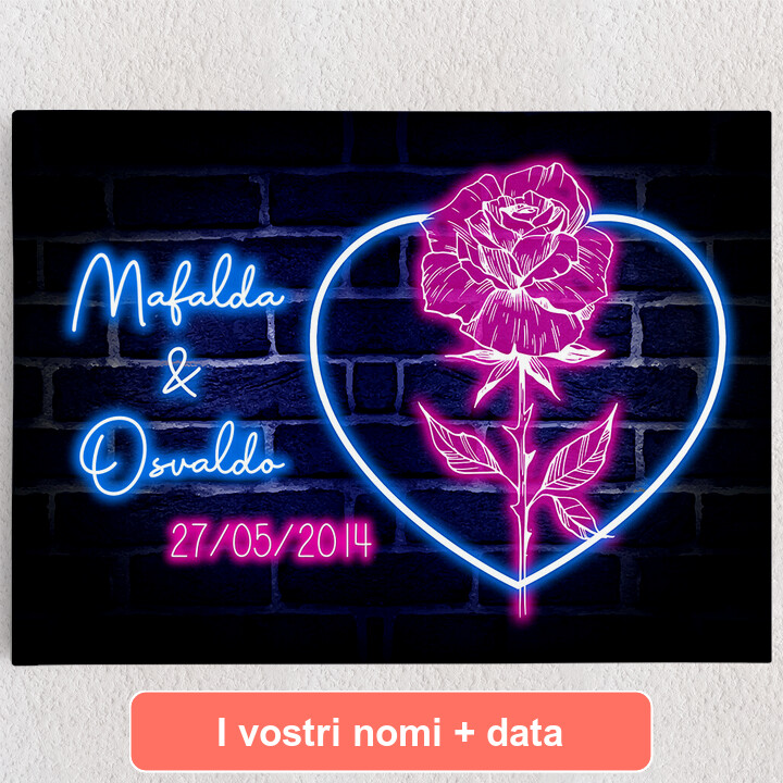 Tele personalizzate Cuore Rosa