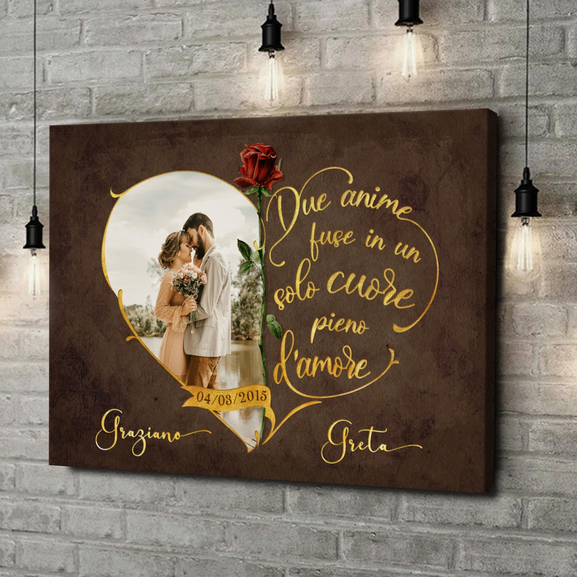 Stampa personalizzata su tela Amore inseparabile