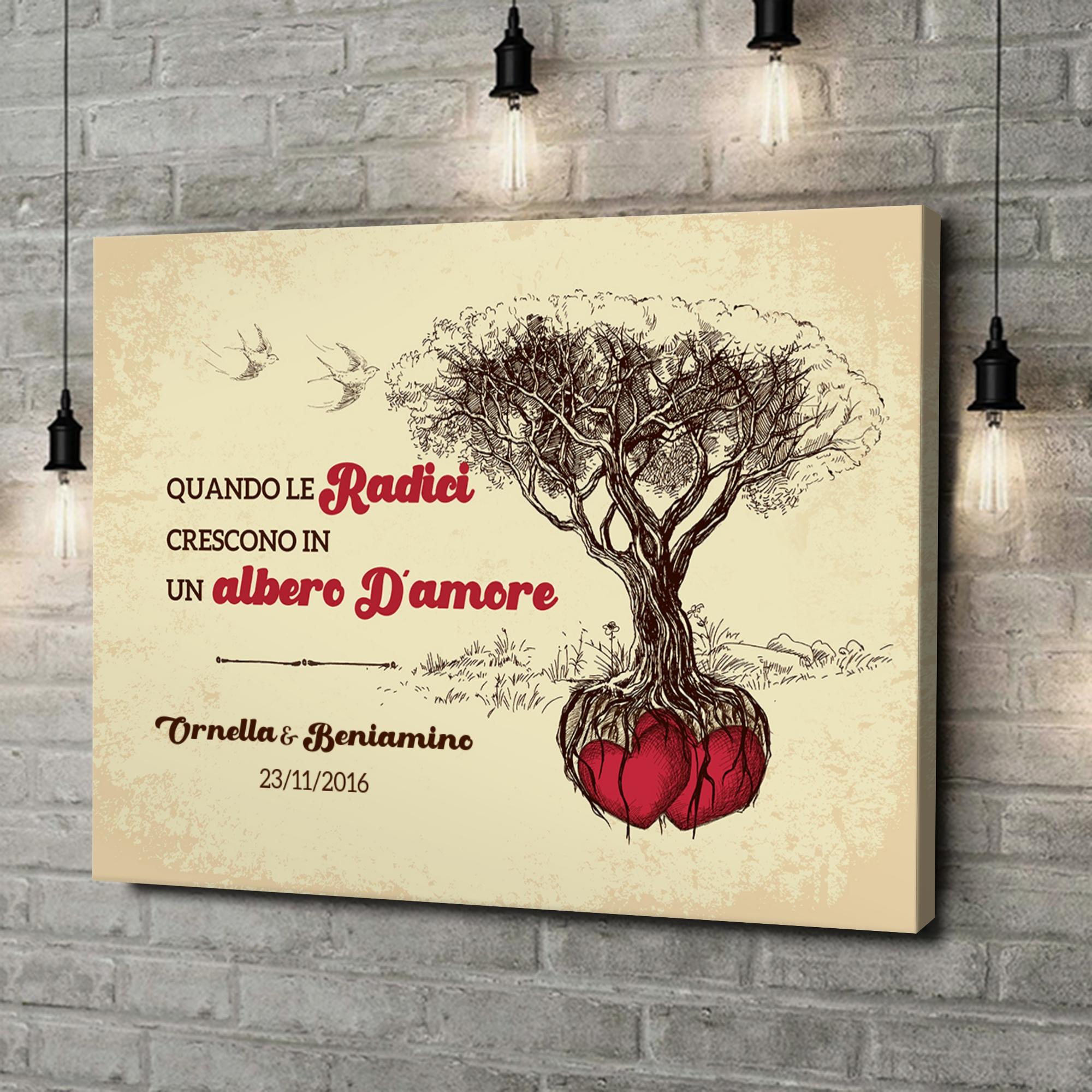 Stampa personalizzata su tela Albero d'Amore