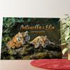 Tela personalizzata Coppia di tigri