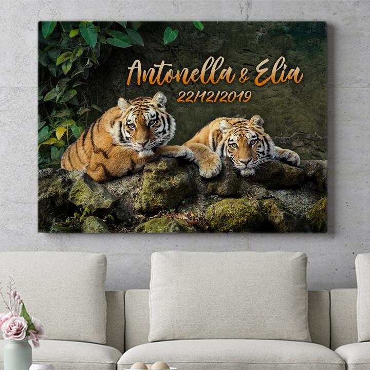 Regalo personalizzato Coppia di tigri