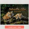 Tele personalizzate Coppia di tigri