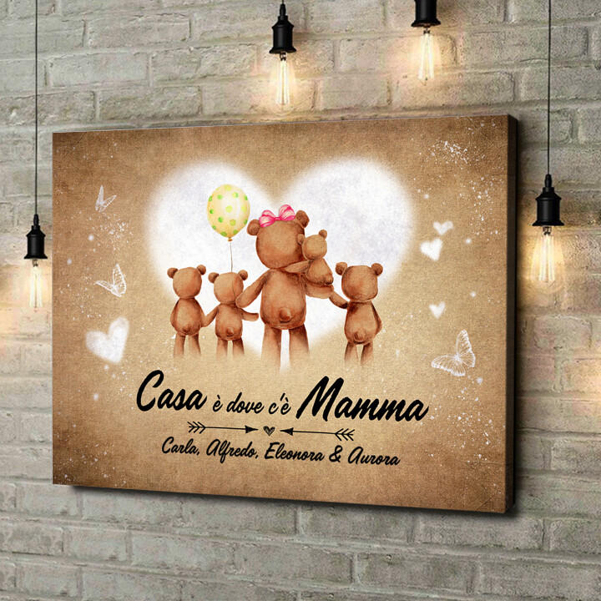 Stampa personalizzata su tela Mamma orso